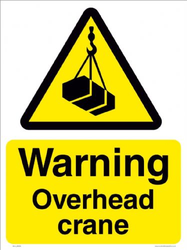 Warning overhead crane